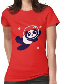Space Panda Womens Fitted T-Shirt