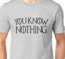 Game of Thrones You Know Nothing - Distressed Unisex T-Shirt