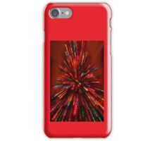red and crazy christmas iPhone Case/Skin