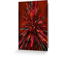 red and crazy christmas Greeting Card