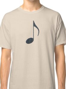 Black Music Note Classic T-Shirt