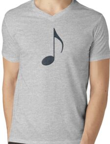 Black Music Note Mens V-Neck T-Shirt
