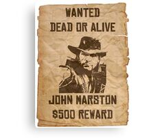 Wanted dead or alive Canvas Print