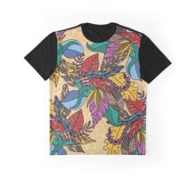 Fall Autumn Leaves in Hand Drawn Illustration Graphic T-Shirt