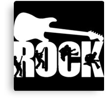 Rock Guitar Canvas Print