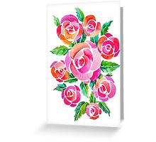 watercolor vintage roses Greeting Card