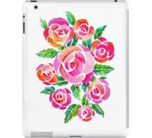 watercolor vintage roses iPad Case/Skin