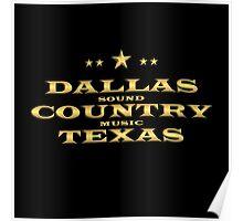 Golden Dallas Country Texas Poster