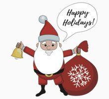 Funny cartoon Santa Claus. One Piece - Short Sleeve