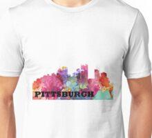 Watercolor Pittsburgh Skyline Unisex T-Shirt