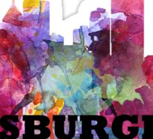 Watercolor Pittsburgh Skyline Sticker