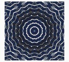 Blue stripes on white grunge textured kaleidoscope Baby Tee