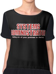 Systems Administrator (Red) Chiffon Top