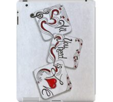 Verticle, All You Need Is Love iPad Case/Skin