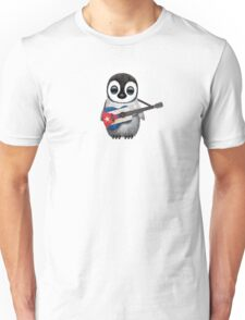 Baby Penguin Playing Cuban Flag Guitar Unisex T-Shirt