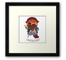 Cool Pirate Framed Print