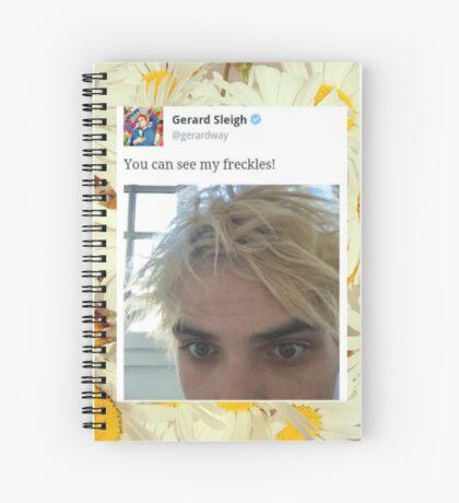 Gerard Way Freckles Tweet Spiral Notebook