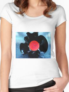 A BOWL OF MARVIN GAYE Women's Fitted Scoop T-Shirt