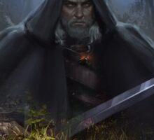 The Witcher 3- Geralt Of Rivia, White Wolf Sticker