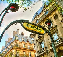 Paris Metro Art by Michael Matthews