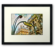 Paris Metro Art Framed Print