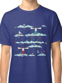 Maritimes Muster - I love the Baltic Sea - dunkelblau Classic T-Shirt