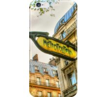 Paris Metro Art iPhone Case/Skin