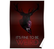 It's Fine to be Weird - Crimson Poster