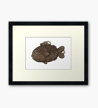 The Coffee Fish Framed Print