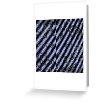 White stripes on blue texture background Greeting Card