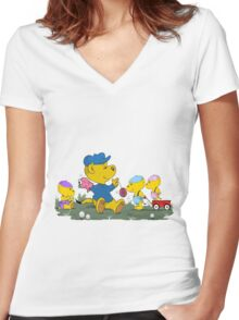 Ferald's Little Cousins Women's Fitted V-Neck T-Shirt