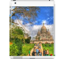 Sacre Couer with greenery .. HDR iPad Case/Skin