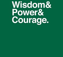Wisdom & Power & Courage. Womens Fitted T-Shirt