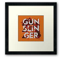 Hunter: Gunslinger Framed Print