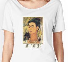 Frida Kahlo Self Portrait  Art Matters Women's Relaxed Fit T-Shirt
