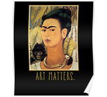Frida Kahlo Self Portrait  Art Matters Poster