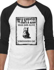Schrödinger's cat WANTED poster Men's Baseball ¾ T-Shirt