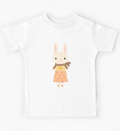 Cute kawaii cartoon bunny rabbit Kids Tee
