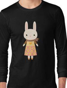 Cute kawaii cartoon bunny rabbit Long Sleeve T-Shirt