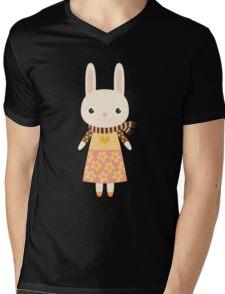 Cute kawaii cartoon bunny rabbit Mens V-Neck T-Shirt
