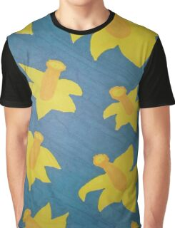 Pop Art Daffodils Graphic T-Shirt