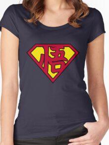 Superman Goku  Women's Fitted Scoop T-Shirt