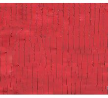 Abstract Red Line Glitch Pale Photographic Print