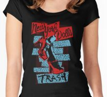 New York Dolls Trash Boots Women's Fitted Scoop T-Shirt