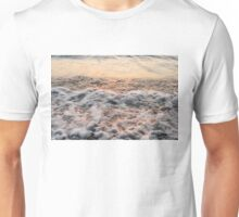 Bubbles in Motion - Playing in the Surf at Sunrise Unisex T-Shirt
