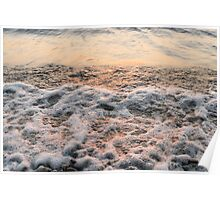 Bubbles in Motion - Playing in the Surf at Sunrise Poster
