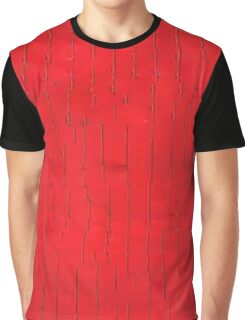 Abstract Red Line Glitch Graphic T-Shirt