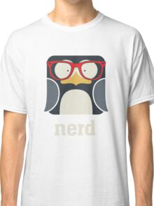Nerd - Penguin with Geek Glasses - Funny Humor  Classic T-Shirt