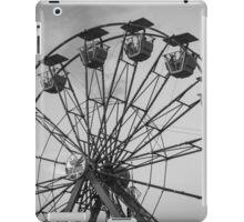 Black and White Ferris Wheel iPad Case/Skin