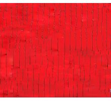 Abstract Red Line Glitch Photographic Print